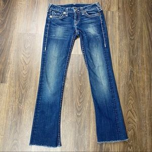 True Religion Jeans Gina Raw hem Sz 28